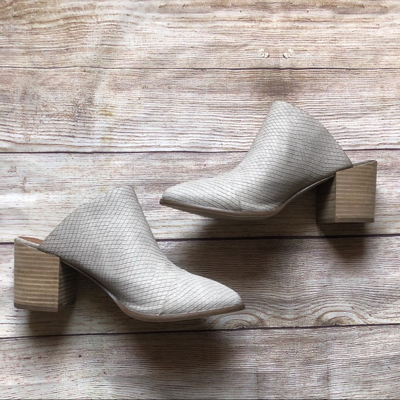 Shoes   Tosh Snake Embossed Mule   Poshmark
